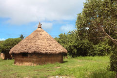 新caledonia的小屋 免版税库存图片