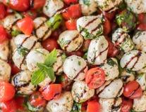 新caprese沙拉食谱 库存图片