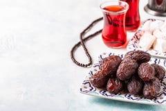 新Medjool日期 ramadan的kareem 库存图片