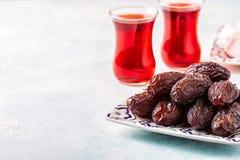 新Medjool日期 ramadan的kareem 库存照片