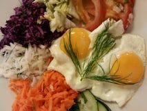 新salat用鸡蛋 库存图片