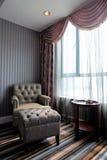 方便的壁角旅馆客房 库存照片