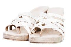 方便的夏天凉鞋 免版税库存图片
