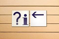方向信息符号 免版税图库摄影