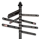 方向地标伦敦s符号 库存照片