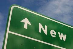 方向新的符号 免版税库存照片