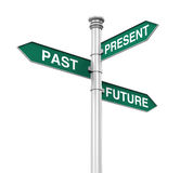 方向标的过去,未来和礼物 免版税库存照片
