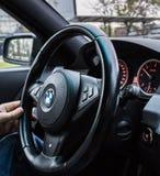 方向盘BMW 5系列 免版税库存照片