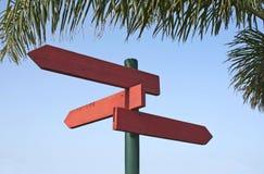 方向红木符号 库存图片