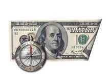 方向美元权利 免版税图库摄影