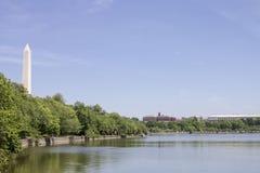 方尖碑华盛顿湖DC 库存照片