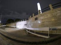 方尖碑在晚上 免版税库存图片