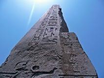 方尖碑在阳光下 图库摄影