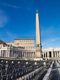 方尖碑,圣伯多禄的广场,罗马 图库摄影