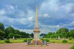 方尖碑致力了于Kuskovo庄园的叶卡捷琳娜二世在莫斯科 库存照片