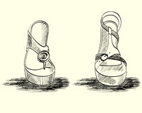 方式凉鞋。 库存照片