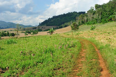 方式和地方路,在泰国北部 图库摄影