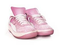 方式夫人桃红色s sneake体育运动妇女 库存照片