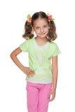 方式女孩微笑的一点 免版税库存图片