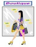 方式女孩购物 免版税图库摄影