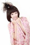 方式好女孩的发型 免版税库存照片