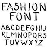 方式字体。 与时装配件的字体 库存例证