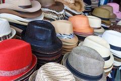 方式帽店 免版税图库摄影