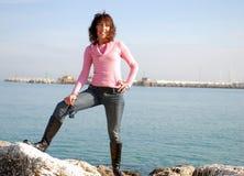 方式意大利人妇女 免版税图库摄影