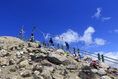 方式的天堂 gurudongmar湖 免版税图库摄影