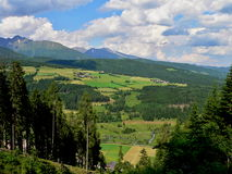 从方式的奥地利阿尔卑斯看法在Fanningberg 图库摄影