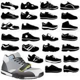 方式穿上鞋子体育运动 图库摄影