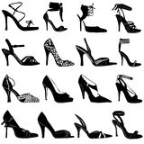 方式穿上鞋子向量妇女 库存照片