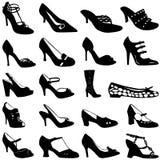 方式穿上鞋子向量妇女 免版税库存照片