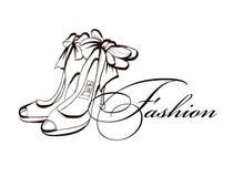 方式穿上鞋子妇女 也corel凹道例证向量 美丽的夏天鞋子 时装配件 库存例证