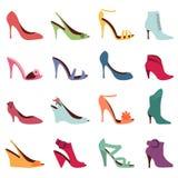 方式穿上鞋子妇女 免版税库存照片