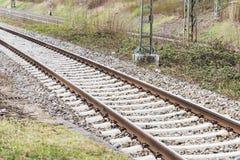 方式转接铁路 库存图片