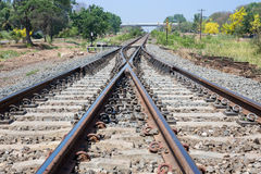 方式转接铁路 免版税库存图片