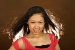 方式长期女孩头发 库存图片