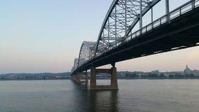 方形字体城市桥梁 免版税图库摄影