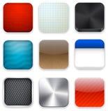 方形现代app模板图标。 免版税库存照片
