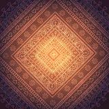 方形的东方装饰品 免版税图库摄影