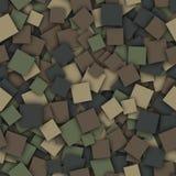 方形的伪装样式 免版税库存图片