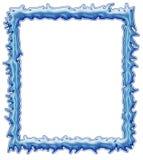 方形的冰框架 免版税库存照片
