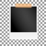 方形的在透明被隔绝的背景的框架减速火箭的照片 葡萄酒空白的老摄影 向量 图库摄影