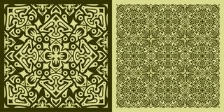 方形的地毯样式 免版税图库摄影