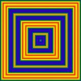 方形的复杂ikat样式多色背景 库存照片