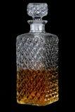方形的威士忌酒decante 免版税库存图片
