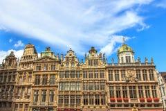 方形的布鲁塞尔大广场,布鲁塞尔,比利时 图库摄影