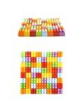 方形的形状由玩具砖做成 免版税库存照片