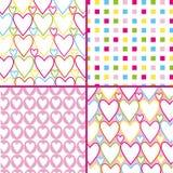 方形的心脏样式 库存照片
